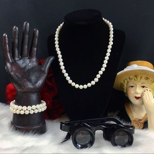 Jewelry - Freshwater Pearl Necklace & 2 Matching Bracelets